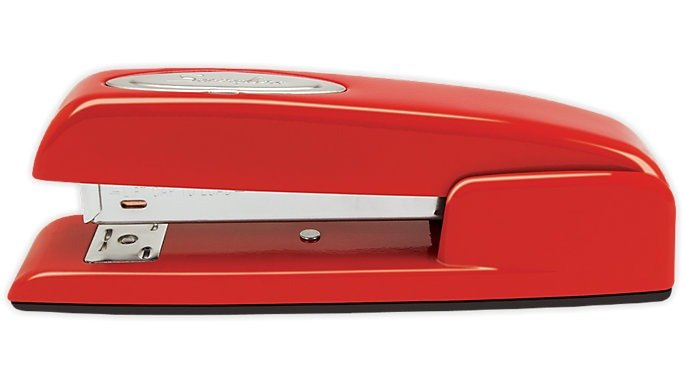 desk accessories - red stapler
